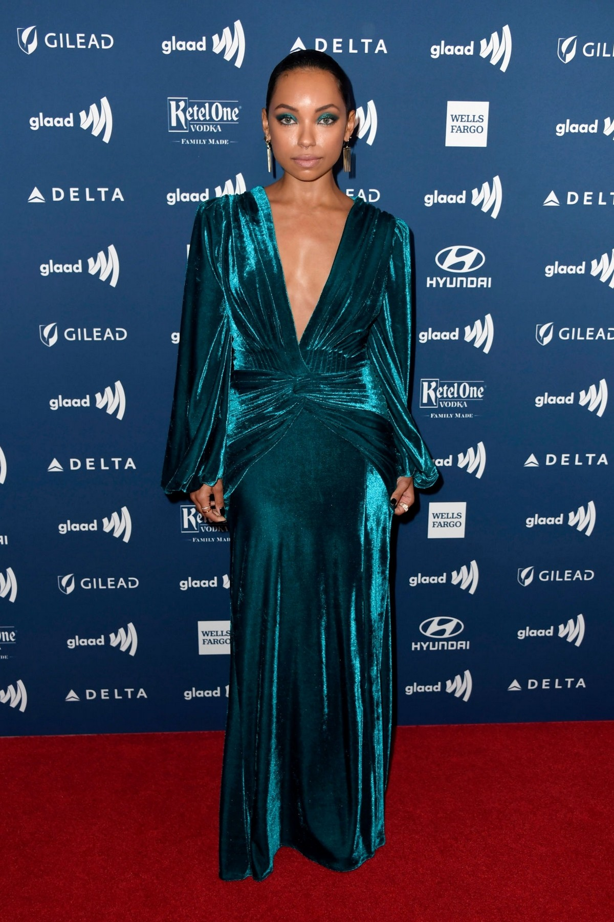 Logan Browning attends The 30th Annual GLAAD Media Awards at The Beverly Hilton Hotel 2019/03/28 7