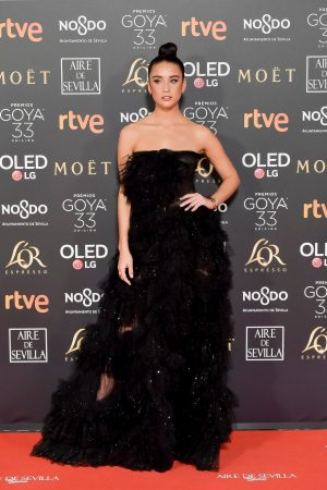 Maria Pedraza attends to 33 Goya Awards at FIBES in Seville 2019/02/02 2
