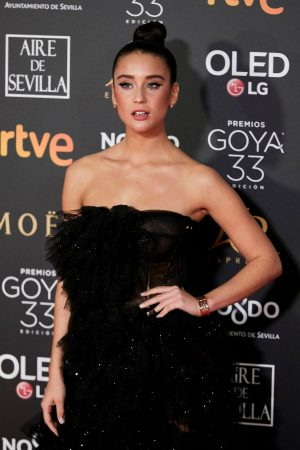 Maria Pedraza attends to 33 Goya Awards at FIBES in Seville 2019/02/02 6
