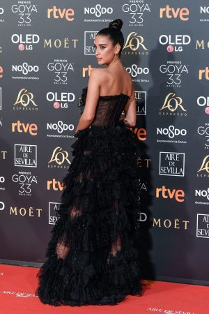Maria Pedraza attends to 33 Goya Awards at FIBES in Seville 2019/02/02 10