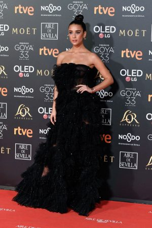 Maria Pedraza attends to 33 Goya Awards at FIBES in Seville 2019/02/02 12