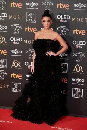 Maria Pedraza attends to 33 Goya Awards at FIBES in Seville 2019/02/02 14