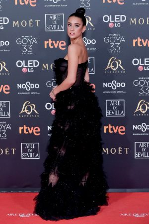 Maria Pedraza attends to 33 Goya Awards at FIBES in Seville 2019/02/02 16