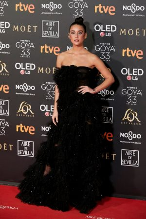 Maria Pedraza attends to 33 Goya Awards at FIBES in Seville 2019/02/02 17