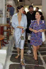 Adriana Lima in Stylish Dress Out in Mykonos Town 2019/07/09 1