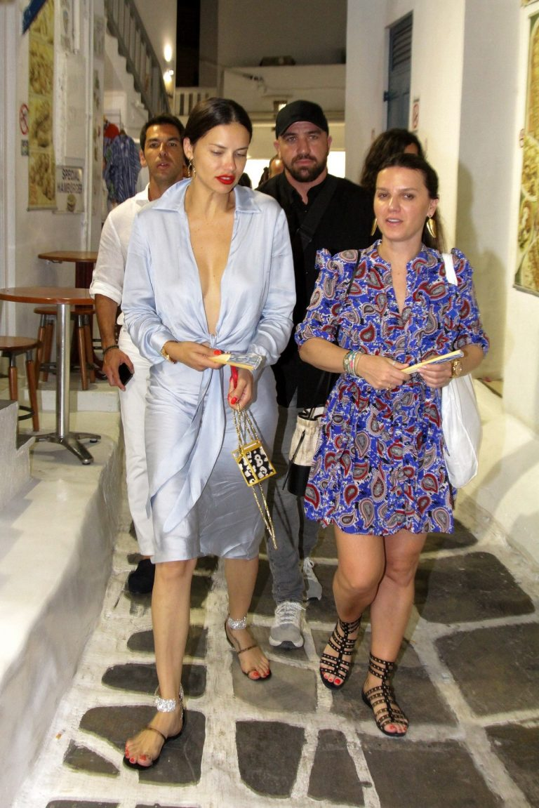 Adriana Lima in Stylish Dress Out in Mykonos Town 2019/07/09 2