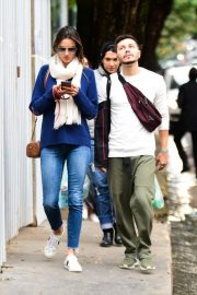 Alessandra Ambrosio Blue Sweater and Jeans out in Sao Paulo 2019/07/05 1