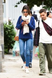 Alessandra Ambrosio Blue Sweater and Jeans out in Sao Paulo 2019/07/05 2