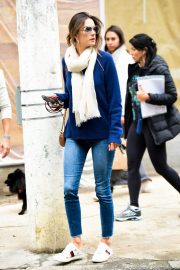 Alessandra Ambrosio Blue Sweater and Jeans out in Sao Paulo 2019/07/05 6