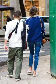 Alessandra Ambrosio Blue Sweater and Jeans out in Sao Paulo 2019/07/05 10