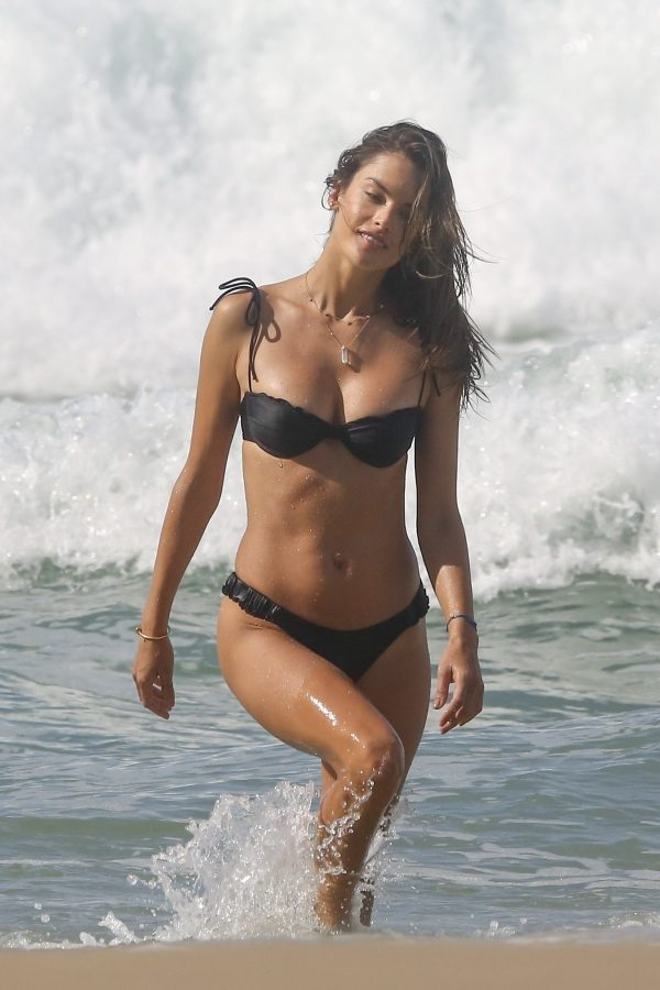 Alessandra Ambrosio in Black Bikini at the beach in Porto Alegre 2019/07/02 6