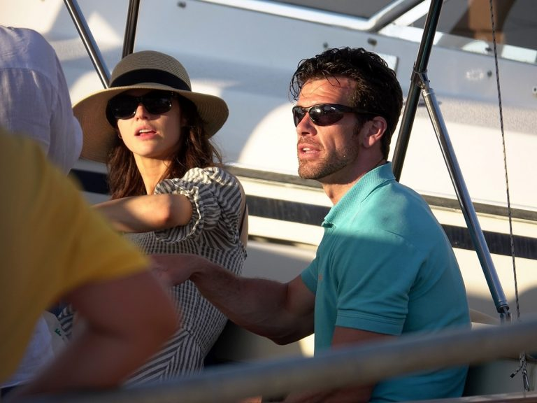 Alexandra Daddario and Brendan Wallace Enjoys a Relaxing Day Aboard a Yacht in Capri 2019/07/07 1
