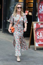 Amanda Holden flashes her legs in Floral Dress Out in London 2019/07/01 6