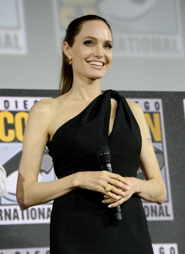 Angelina Jolie arrives for the Marvel panel in Hall H of the Convention Center in San Diego 2019/07/20 7