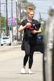 Ariel Winter in Black Lewis T-Shirt and Leggings Out in Sherman Oaks 2019/07/06 8