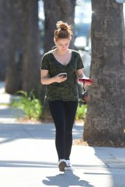 Ariel Winter in Olive Green T-Shirt and Black Denim Out and About in Los Angeles 2019/07/03 2
