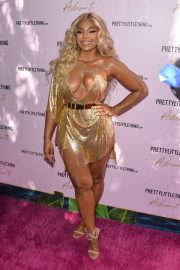 Ashanti attends PrettyLittleThing x Ashanti Launch Party in Los Angeles 2019/06/30 21