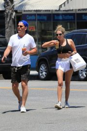 Ashley Benson and Derek Beckman leaves lunch with a friend at Joan's on Third in Studio City 2019/07/12 12