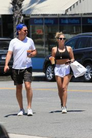 Ashley Benson and Derek Beckman leaves lunch with a friend at Joan's on Third in Studio City 2019/07/12 14