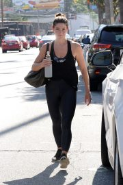 Ashley Greene in Black Tank Top and Tights After a Workout in Studio City 2019/07/06 7