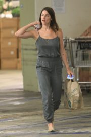 Ashley Greene in Grey Jumpsuit Out in Beverly Hills 2019/07/ 1