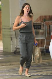 Ashley Greene in Grey Jumpsuit Out in Beverly Hills 2019/07/ 2