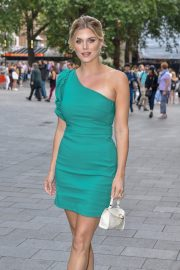 Ashley James in Green Dress arrives M&M's Block launch party in London 2019/07/18 2