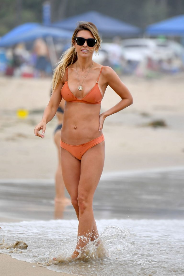 Audrina Patridge in Orange Bikini on the Beach in Santa Monica 2019/07/15 4