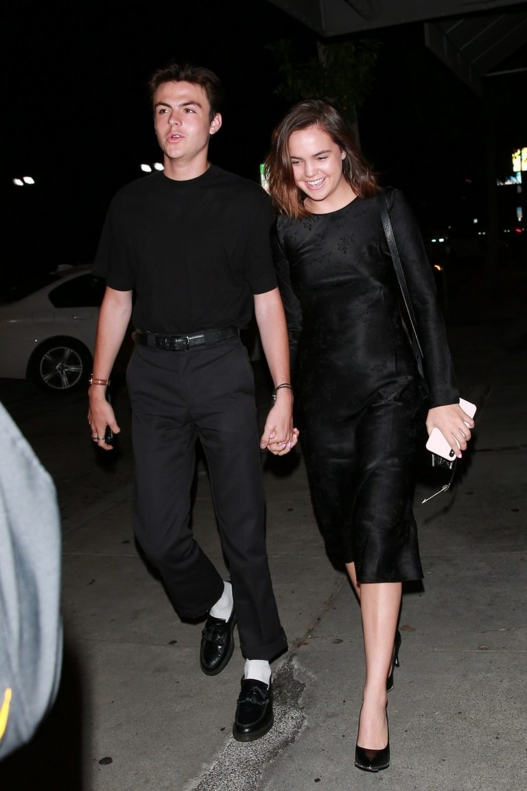 Bailee Madison and Blake Richardson at Craig's Restaurant in West Hollywood 2019/07/15 8