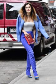 Bella Thorne in a Purple Mugler Pantsuit Out in New York 2019/07/23 6
