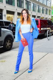 Bella Thorne in a Purple Mugler Pantsuit Out in New York 2019/07/23 7