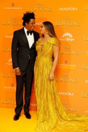 Beyonce and Jay-Z attends Disney's The Lion King European Premiere in Leicester Square, London 2019/07/14 10