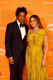Beyonce and Jay-Z attends Disney's The Lion King European Premiere in Leicester Square, London 2019/07/14 16