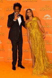 Beyonce and Jay-Z attends Disney's The Lion King European Premiere in Leicester Square, London 2019/07/14 23