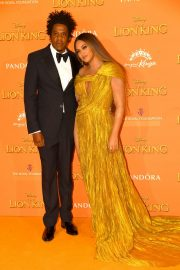 Beyonce and Jay-Z attends Disney's The Lion King European Premiere in Leicester Square, London 2019/07/14 28