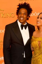 Beyonce and Jay-Z attends Disney's The Lion King European Premiere in Leicester Square, London 2019/07/14 30