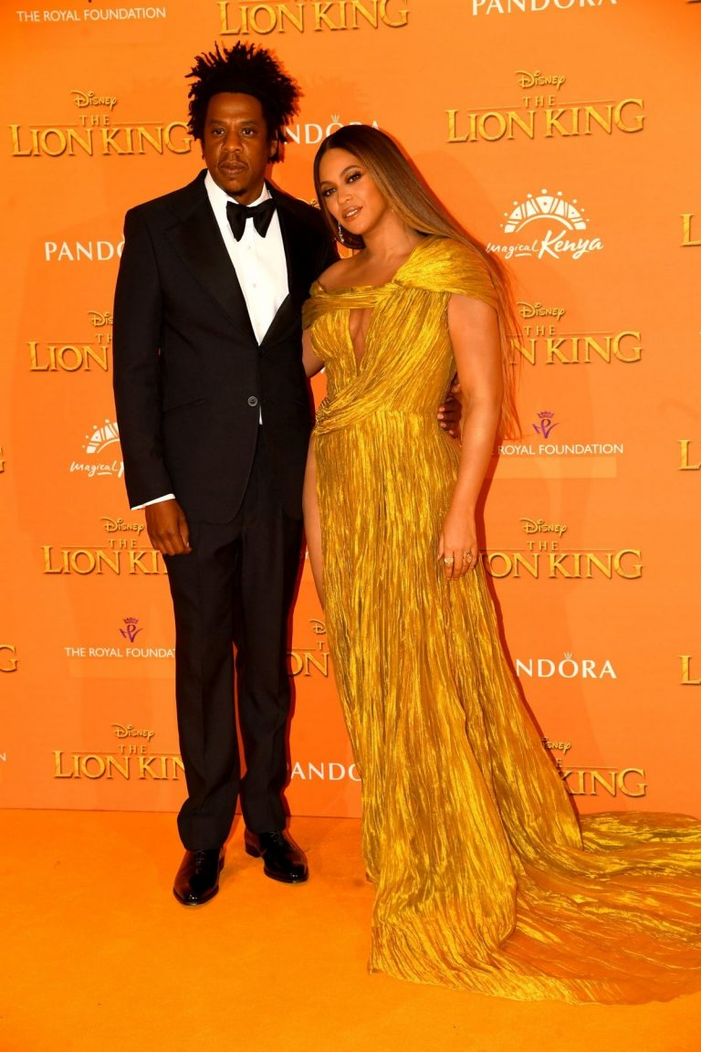 Beyonce and Jay-Z attends Disney's The Lion King European Premiere in Leicester Square, London 2019/07/14 31