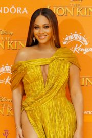 Beyonce attends Disney's The Lion King European Premiere in Leicester Square, London 2019/07/14 18