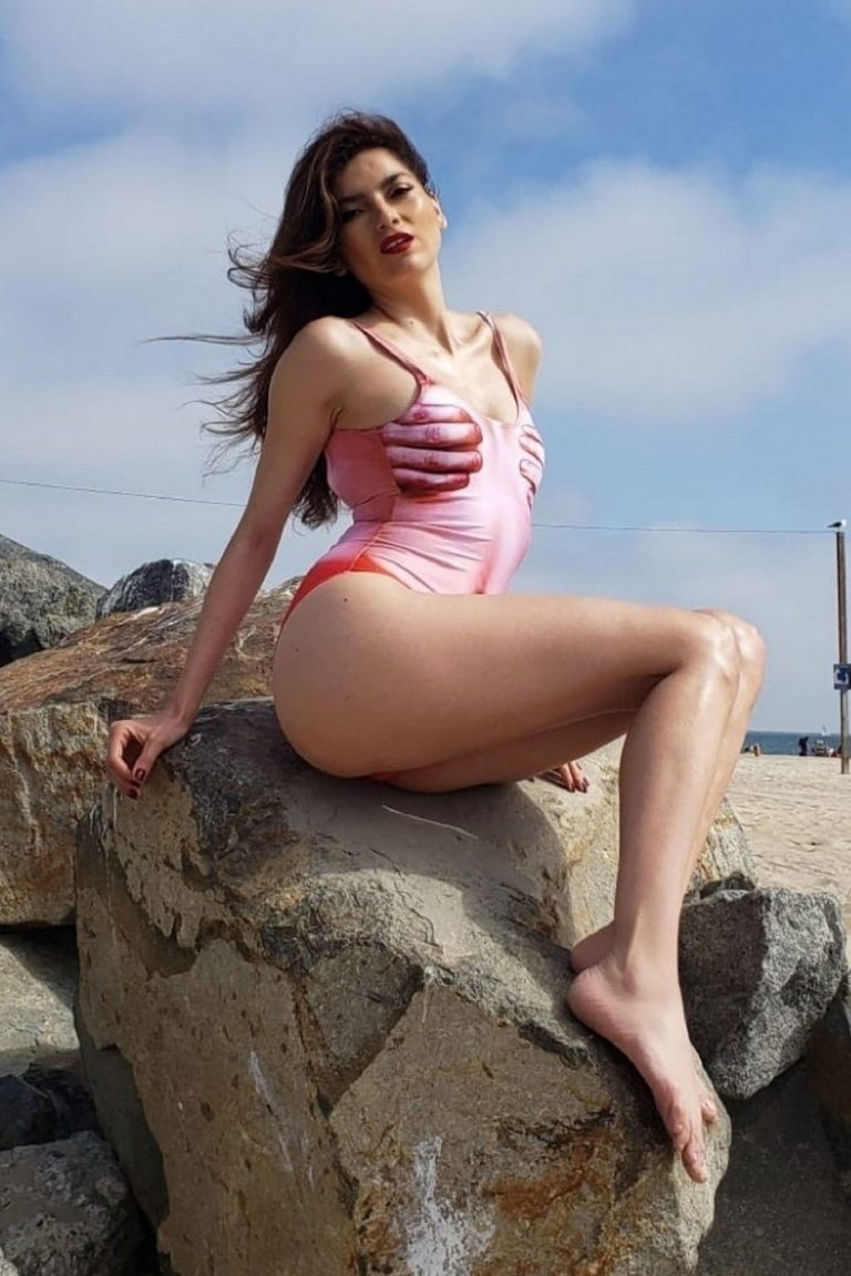 Blanca Blanco in Stylish Swimsuit Photoshoot at the beach in Malibu 2019/07/17 4
