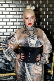 Christina Aguilera attends Jean Paul Gaultier Haute Couture Fall/Winter 2020 Show of PFW in Paris 2019/07/03 2