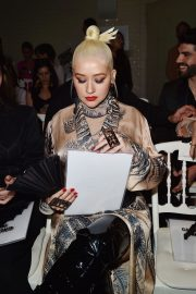 Christina Aguilera attends Jean Paul Gaultier Haute Couture Fall/Winter 2020 Show of PFW in Paris 2019/07/03 7