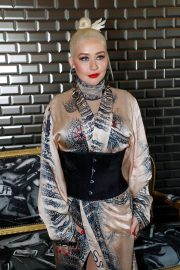 Christina Aguilera attends Jean Paul Gaultier Haute Couture Fall/Winter 2020 Show of PFW in Paris 2019/07/03 8