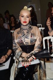 Christina Aguilera attends Jean Paul Gaultier Haute Couture Fall/Winter 2020 Show of PFW in Paris 2019/07/03 9