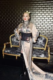 Christina Aguilera attends Jean Paul Gaultier Haute Couture Fall/Winter 2020 Show of PFW in Paris 2019/07/03 10