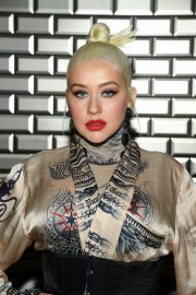Christina Aguilera attends Jean Paul Gaultier Haute Couture Fall/Winter 2020 Show of PFW in Paris 2019/07/03 13