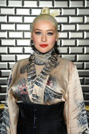 Christina Aguilera attends Jean Paul Gaultier Haute Couture Fall/Winter 2020 Show of PFW in Paris 2019/07/03 16
