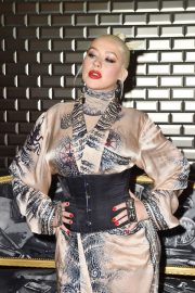 Christina Aguilera attends Jean Paul Gaultier Haute Couture Fall/Winter 2020 Show of PFW in Paris 2019/07/03 20