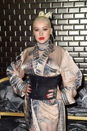 Christina Aguilera attends Jean Paul Gaultier Haute Couture Fall/Winter 2020 Show of PFW in Paris 2019/07/03 21