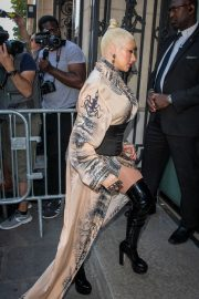 Christina Aguilera attends Jean Paul Gaultier Haute Couture Fall/Winter 2020 Show of PFW in Paris 2019/07/03 30