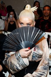 Christina Aguilera attends Jean Paul Gaultier Haute Couture Fall/Winter 2020 Show of PFW in Paris 2019/07/03 35